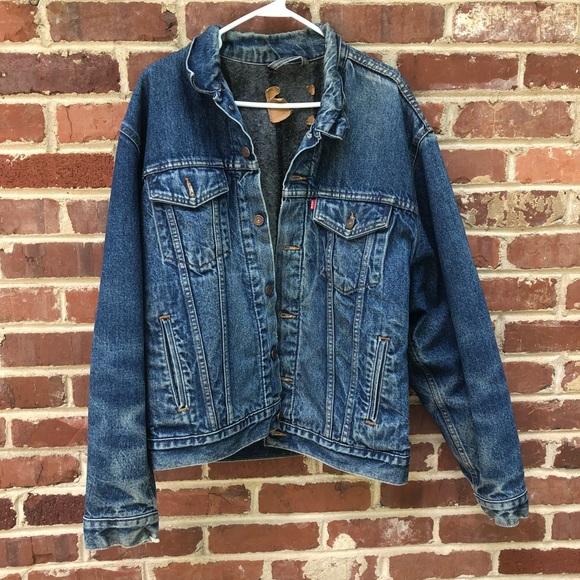 0055a35f45 Levi s Other - Levi s Vintage Denim Jacket Blanket Flannel 46 Men